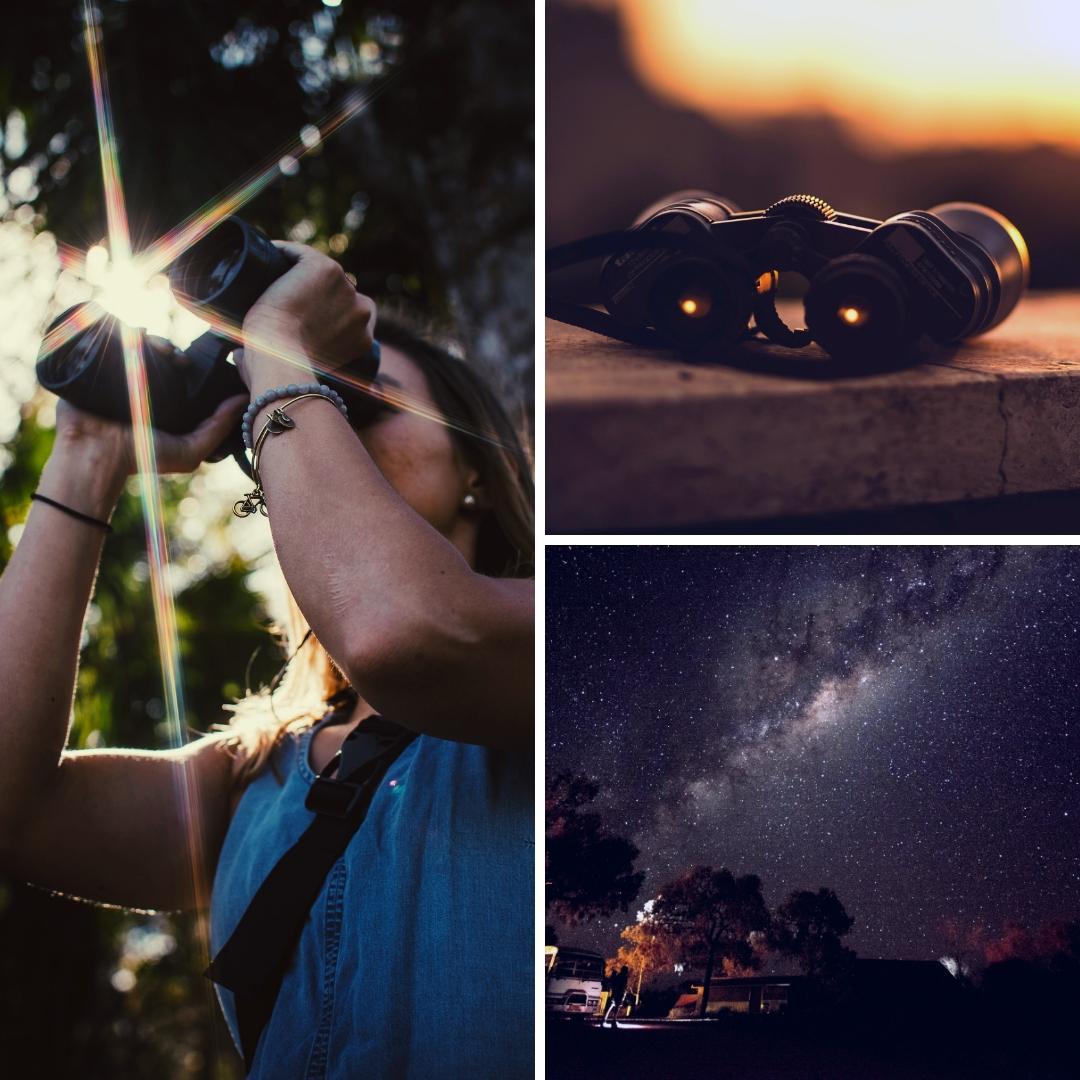 prismaticos astronomicos mas pequeños