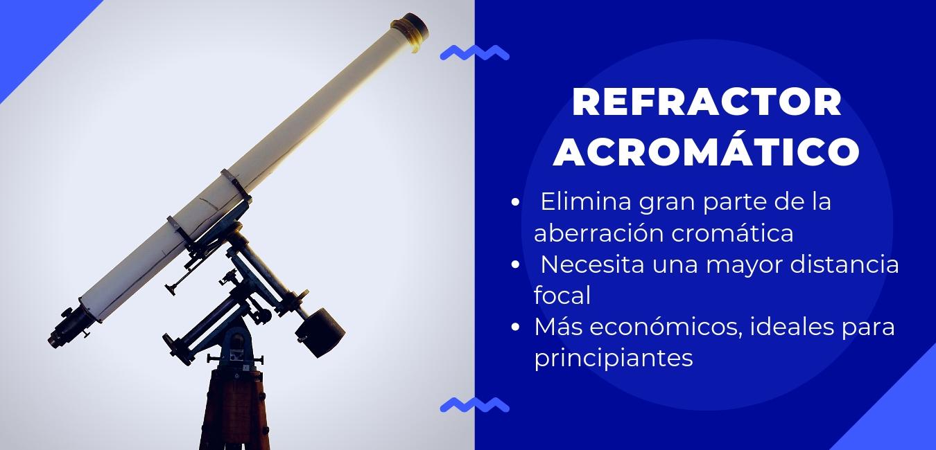refractor acromático: elimina la aberración cromática