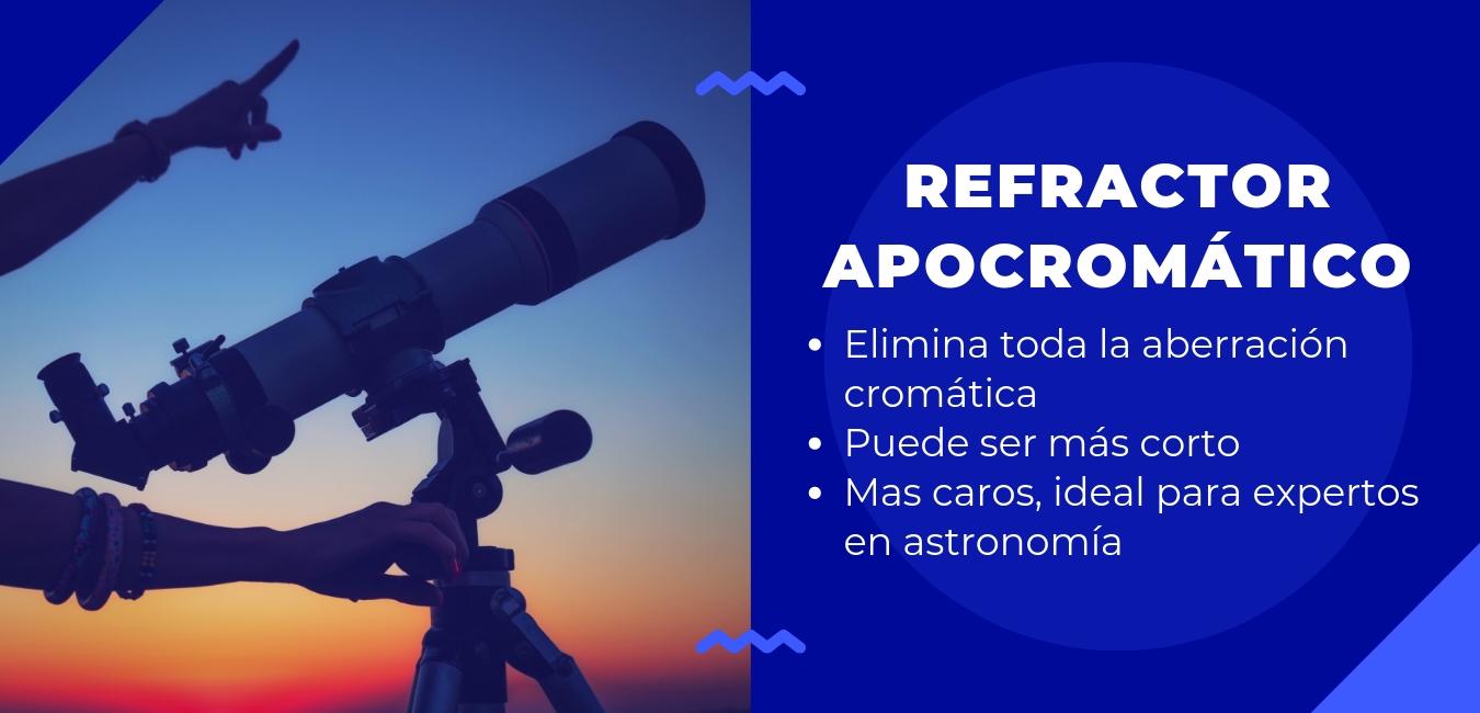 refractor apocromático: elimina toda la aberracion cromática