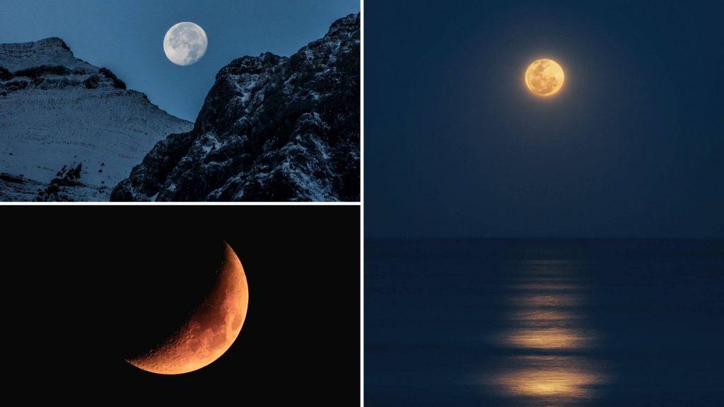 luna llena y luna gibosa